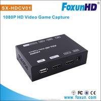 USB 2.0 video game capture hd device, 1080P @ 60HZ, record your own voice simultaneously