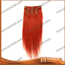 Hot sale grade 7A ombre hair extension clip in hair clip tic tac feather hair clip