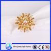 Gold Rhinestone Crystal Snowflake napkin rings