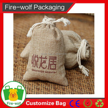 Small jute bag for gift/jewelry packing on the trend