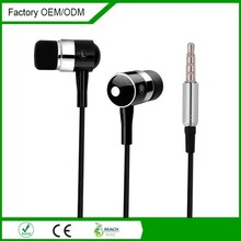 factory cheap colorful mp3/mp4 gifts metal earphone