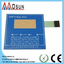 touch screen keypad custom-made flat embossed membrane switch