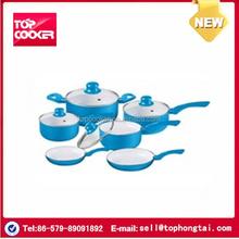 10pcs aluminum skillful ceramic coating cookware set