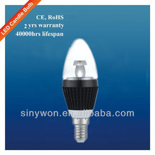 High Lumen Output Wholesale Low Cost 3w Led Candle Light