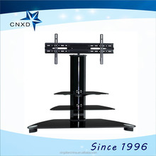 stainless steel and glass tv stand with bookshelf