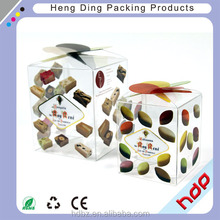 soft crease clear plastic folding box packaging with printing