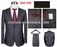 Hot selling 2013 fashion design two-piece one button men business suit office uniform TM620 man suit 2013