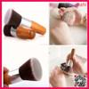 2015 New Arrival 10pcs bamboo makeup brush set with a kabuki brush