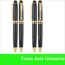 Hot Sale Custom cheap laser logo metal black matte pen