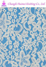 Charming print cotton polyester allover lace and fabric for lady garment