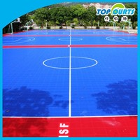 Good quality non-slip removable basketball field flooring