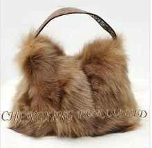 Cx-h-23 bayanlar Kore moda tilki kürk çanta çanta