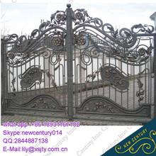 wrought iron metal small grill gate for villa estate