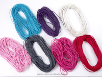 Colorful waxed cord for bracelet and necklace