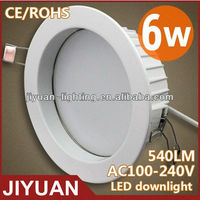 Energy Saving High Power 6W Hot Cree led ceiling downlight led
