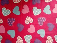 alibaba china colorful heart design flannel fabric 20*10 40*43