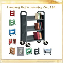 School Steel Furniture Libtary Mobile Steel Book Cart/Library Book Trolley/Library Book Cart,Metal book trolly