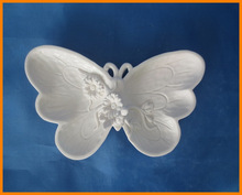 zakka white butterfly storage tray dried fruit plate creative home decorations ornaments ceramic disc florets