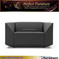 Fashion living room design new modern diamond design leather sofa PFS41006