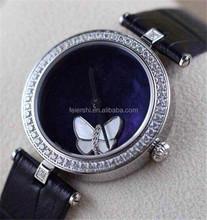 Butterfly Emboss Diamond Swiss Quartz Women Watch ,China factory Vogue Ladies Watch