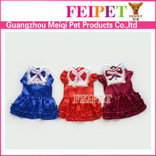 high quality soft fleece lolita style dog clothes pet party dress for sale
