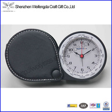 PU Leather Hot Travel Convenient Leather Desk Flip Clock