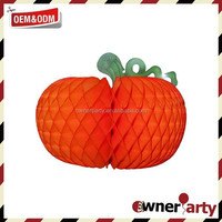 Hot Sale High Quality Beautiful Paper Pumpkin Decoration for Halloween
