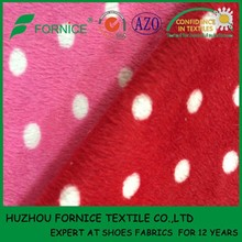 China manufacturer polyester printed fabric micro fleece