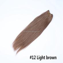 Cheaper 5A machine hair weaves 26inch 100g remy human Brazilian hair extensions