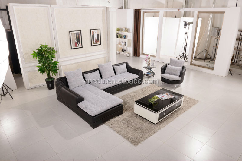 hot selling modern cheap leather sectional
