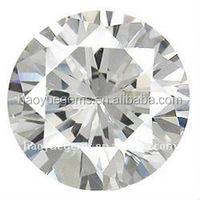 hot sale machine cut shining white cubic gem dimond akik stone