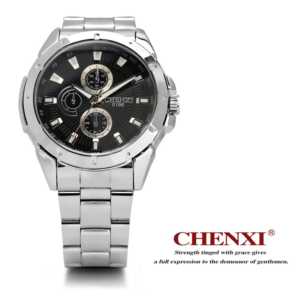 China supply Japan movement stainless steel Quartz watch high quality watch 019EMS