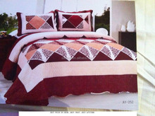 printed patchwork quilt