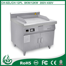 freestanding stainless steel commercial induction griddle