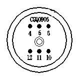 Piezo pressure sensor element