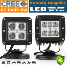 High Performance 18W 3inch Offroad 4WD SUV Boat lamp waterproof signal super bright led work light