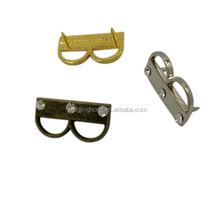 Fashion accessory for wallets custom crystal metal logo design