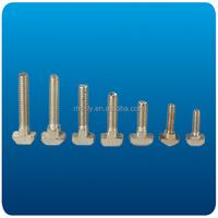 Zinc or Chromium plated aluminum profile accessory t bolt