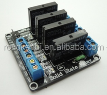 5V 4 Channel SSR Solid-State Relay Low Level Trigger With fuse Stable