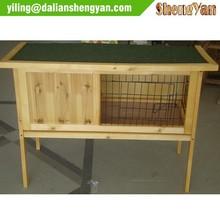 Small wooden rabbit hutch for children