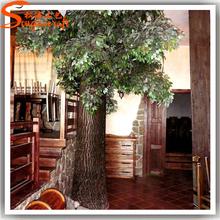 Indoor ornaments make artificial metal tree gards,fake decorative plastic tree for sale