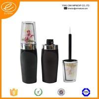Custom small cute black round eyeliner bottle/ plastic tube