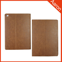 Book open style crazy horse leather case for ipad air case new products