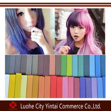 Popular 4/6/12/24/36 colors powder form temporary hair chalk,colorful hair dye