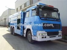 howo BLUE FIRE TRUCK 6X4 heavy duty water foam fire fighting tank truck 15000L JDF5280GXFPM120Z