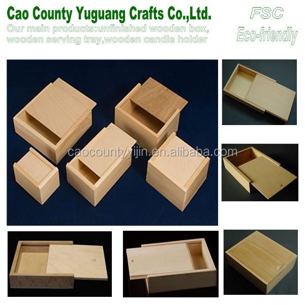 Corredera tapa caja de madera caja de pino peque as for Cajas de madera pequenas