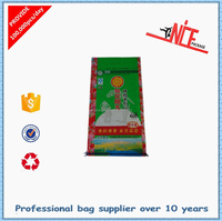 Plastic handle PP woven rice bag 25kg thailand rice bags pp woven transparent material made safe food bag