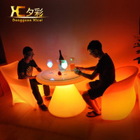 High Quality Glow Color Light LED bar Cocktail Table,outdoor bar LED flashing table