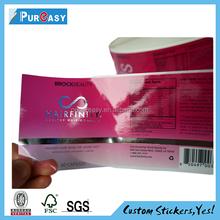 Custom self adhesive pet dog product packaging label
