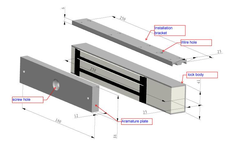 How does the electromagnetic door lock work